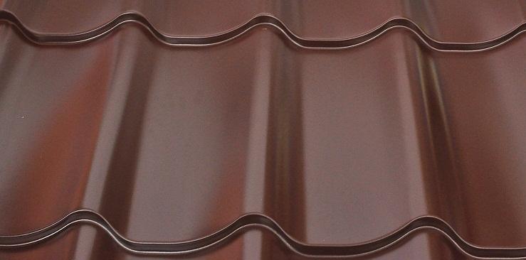 металлочерепица цвет 8017 фото